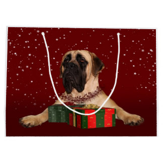 Mastiff Christmas Large Gift Bag