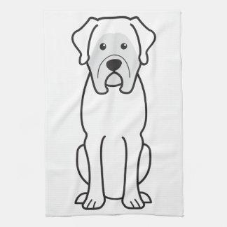 Mastiff Dog Cartoon Hand Towel