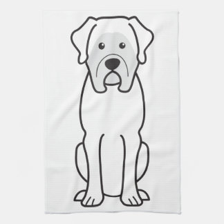 Mastiff Dog Cartoon Tea Towel