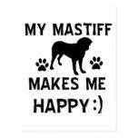 Mastiff dog designs postcard