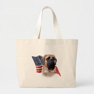 Mastiff (fawn) Flag Large Tote Bag