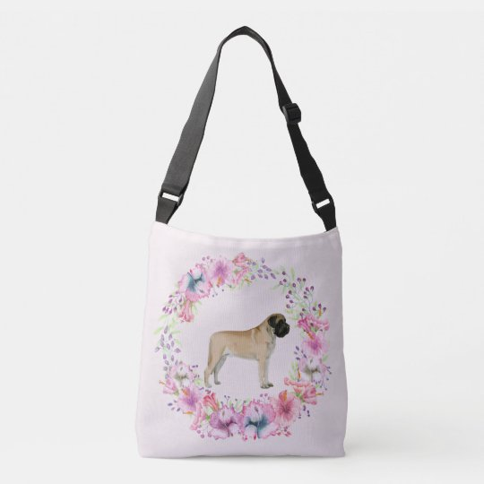 Mastiff Floral Cross Over Bag or Tote