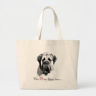 Mastiff Happy Face Bag