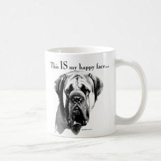 Mastiff Happy Face Basic White Mug