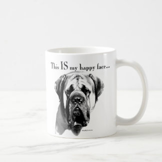 Mastiff Happy Face Coffee Mug