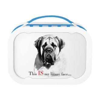 Mastiff Happy Face Lunch Box