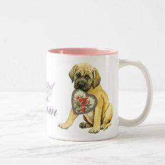 Mastiff Heart Mom Two-Tone Coffee Mug