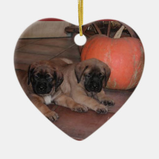 Mastiff heart supporter christmas ornaments