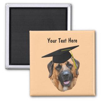 Mastiff In Graduation Cap Funny Dog Magnet