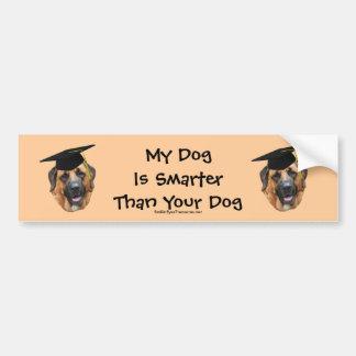 Mastiff My Dog Smarter Than Funny Bumper Sticker