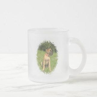 Mastiff Puppy Glass Coffee Mug