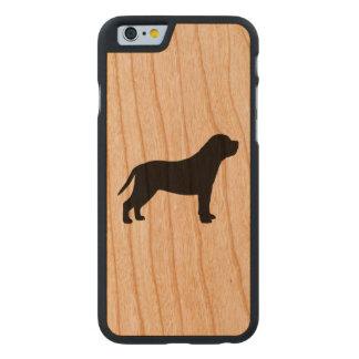 Mastiff Silhouette Carved® Cherry iPhone 6 Slim Case
