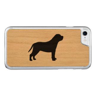 Mastiff Silhouette Carved iPhone 7 Case