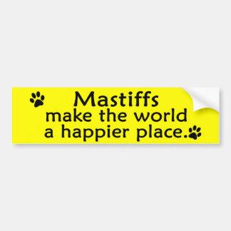 Mastiffs Happy Place Bumper Sticker