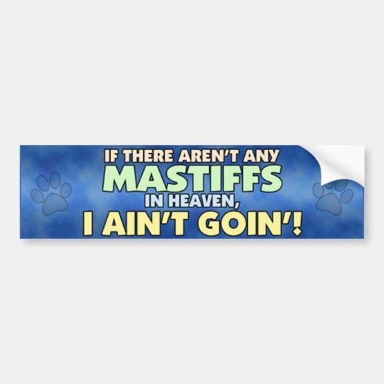 Mastiffs in Heaven Bumper Sticker