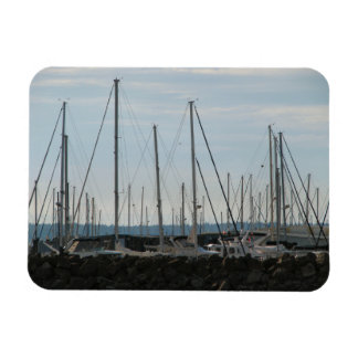 Masts In The Marina Rectangular Photo Magnet