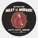 masturb-retro-DKT Round Sticker