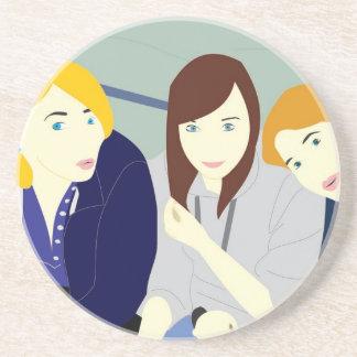 Masurian girls coaster