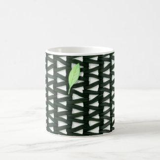 mat and leaf on a mug