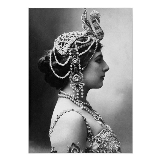 "Mata Hari: ""Beautiful Woman, Dangerous Spy"" Poster"