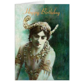 Mata Hari Vintage Birthday Card