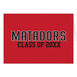 Matadors with Class Year - Gray Outline Note Card