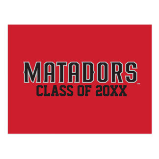 Matadors with Class Year - Gray Outline Postcard