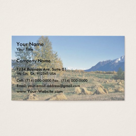 Matanuska Valley Hay Field Business Card