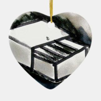 match box ceramic heart decoration