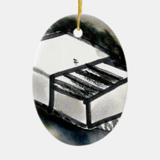 match box ceramic oval decoration