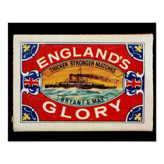 match box of England glory Poster