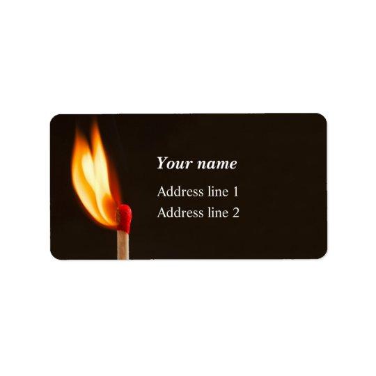 Match Lit Address Label