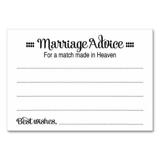 Match Made In Heaven Marriage Advice Cards