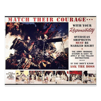 Match Their Courage Custom Announcements
