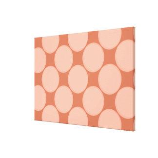 Match Wall Decor : Golden Brown Circles Canvas Prints