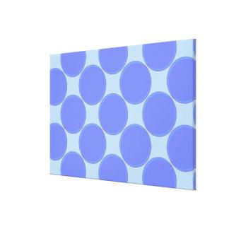 Match Wall Decor : RoyalBlue SkyBlue Circles Canvas Print