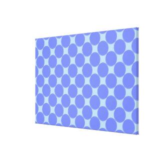 Match Wall Decor : RoyalBlue SkyBlue Circles Canvas Prints