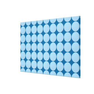 Match Wall Decor : SkyBLUE Circles Stretched Canvas Prints