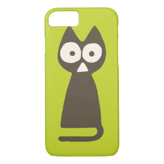 Matcha Green Brown Triangle Cat iPhone 8/7 Case