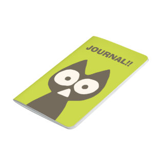 Matcha Green Brown Triangle Cat Journal
