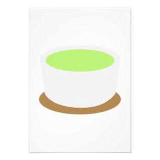 Matcha tea invitation