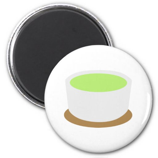 Matcha tea fridge magnets