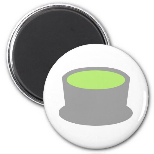 Matcha tea fridge magnet