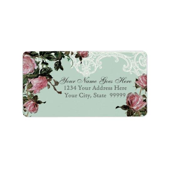 Matching Address Labels, Trellis Rose Vintage Label