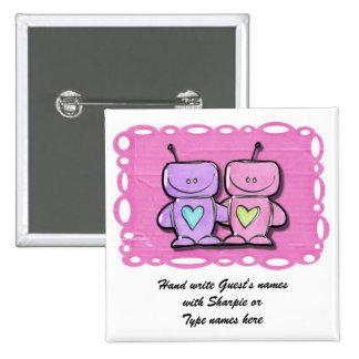 Matching Bridal shower Name Pins Tags