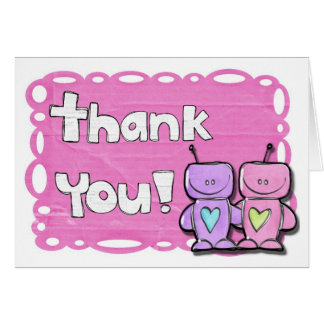 Matching Bridal shower Thank you notecards Greeting Card