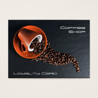 Matching Coffee Shop Loyalty Stamp Card