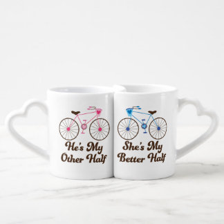 Matching Couples Better Half Love Mugs