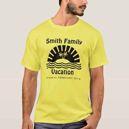 Matching Family Vacation Custom T-Shirt