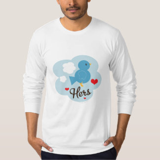 Matching Hers Love Bird Fitted Long Sleeve Tee Shi